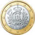Coin visual: San Marino, 1 Euro (First series)