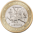 Coin visual: Lithuania, 1 Euro (First series)