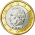Coin visual: Belgium, 1 Euro (Second series)