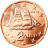 Coin visual: Greece, 2 cents (First series)