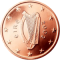 Coin visual: Irland, 5 cents (First series)