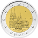 Commemorative Euro coin visual: Germany 2011, Cologne Cathedral (North-Rhine Westphalia) Sixth of the Bundesländer series