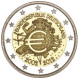 Commemorative Euro coin visual: Germany 2012, 10th Anniversary of Euro coins and banknotes