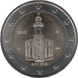 Commemorative Euro coin visual: Germany 2015, Paulskirche in Frankfurt am Main - Tenth of the Bundesländer series