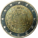 Commemorative Euro coin visual: Germany 2015, 30th anniversary of the Flag of Europe