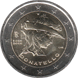 Commemorative Euro coin visual: Italy 2016, 550 years since the death of Donatello