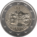 Commemorative Euro coin visual: Italy 2016, 2200 years since the death of Plautus
