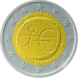 Commemorative Euro coin visual: Italy 2009, Ten years of Economic and Monetary Union (EMU) and the birth of the euro