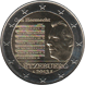 Commemorative Euro coin visual: Luxembourg 2013, National Anthem of the Grand Duchy