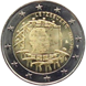 Commemorative Euro coin visual: Luxembourg 2015, 30th anniversary of the Flag of Europe