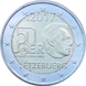 Commemorative Euro coin visual: Luxembourg 2017, 50 years since the foundation of the current Luxembourg Army
