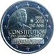 Commemorative Euro coin visual: Luxembourg 2018, 150 years since the Constitution of Luxembourg