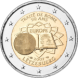 Commemorative Euro coin visual: Luxembourg 2007, 50th Anniversary of the Austrian State Treaty