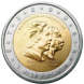 Commemorative Euro coin visual: Luxembourg 2005, 50th Birthday of Grand Duke Henri, 5th Anniversary of his Accession to the Throne and 100th Anniversary of the Death of Grand Duke Adolphe