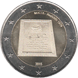 Commemorative Euro coin visual: Malta 2015, Proclamation of the Republic of Malta in 1974 - Fifth of the Constitutional History series