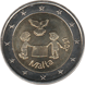 "Commemorative Euro coin visual: Malta 2017, Solidarity and peace - Second of the ""from children in solidarity"" series"
