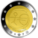 Commemorative Euro coin visual: Malta 2009, Ten years of Economic and Monetary Union (EMU) and the birth of the euro