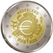 Commemorative Euro coin visual: Netherlands 2012, 10th Anniversary of Euro coins and banknotes