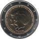 Commemorative Euro coin visual: Netherlands 2013, The announcement of the abdication of the throne by Her Majesty Queen Beatrix