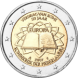 Commemorative Euro coin visual: Netherlands 2007, 50th Anniversary of the Signature of the Treaty of Rome