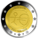 Commemorative Euro coin visual: Netherlands 2009, Ten years of Economic and Monetary Union (EMU) and the birth of the euro