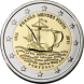 Commemorative Euro coin visual: Portugal 2011, 500th Birthday of Fernão Mendes Pinto