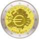 Commemorative Euro coin visual: Portugal 2012, 10th Anniversary of Euro coins and banknotes