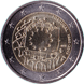 Commemorative Euro coin visual: Portugal 2015, 30th anniversary of the Flag of Europe