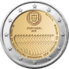 Commemorative Euro coin visual: Portugal 2008, 60th Anniversary of the Universal Declaration of Human Rights