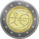 Commemorative Euro coin visual: Portugal 2009, Ten years of Economic and Monetary Union (EMU) and the birth of the euro