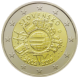 Commemorative Euro coin visual: Slovakia 2012, 10th Anniversary of Euro coins and banknotes