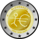 Commemorative Euro coin visual: Slovakia 2009, Ten years of Economic and Monetary Union (EMU) and the birth of the euro