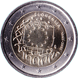 Commemorative Euro coin visual: Slovenia 2015, 30th anniversary of the Flag of Europe