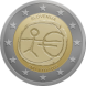 Commemorative Euro coin visual: Slovenia 2009, Ten years of Economic and Monetary Union (EMU) and the birth of the euro