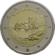 Commemorative Euro coin visual: Monaco 2015, 800th anniversary of the Construction of the first Fortress on the Rock 1215