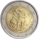 Commemorative Euro coin visual: Vatican 2019, 25 years since the restoration of the Sistine Chapel