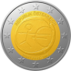 Commemorative Euro coin visual: Austria 2009, Ten years of Economic and Monetary Union (EMU) and the birth of the euro