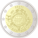 Commemorative Euro coin visual: Estonia 2012, 10th Anniversary of Euro coins and banknotes