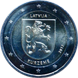 "Commemorative Euro coin visual: Latvia 2017, Courland - Second of the ""Regions"" series"
