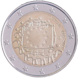 Commemorative Euro coin visual: Lithuania 2015, 30th anniversary of the Flag of Europe