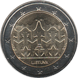 Commemorative Euro coin visual: Lithuania 2018, Lithuania's Independence Centenary Song Celebration