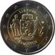 "Commemorative Euro coin visual: Lithuania 2019, Samogitia - First of the ""Lithuanian Ethnographical Regions"" series"""