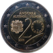 Commemorative Euro coin visual: Andorra 2014, 20 years in the Council of Europe