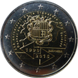 Commemorative Euro coin visual: Andorra 2015, 25 years of Customs Union with the EU