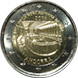 Commemorative Euro coin visual: Andorra 2016, 150 years of the New Reform 1866