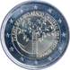 Commemorative Euro coin visual: Andorra 2018, 70th anniversary of the Universal Declaration of Human Rights