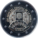 Commemorative Euro coin visual: Andorra 2019, 600 years since the constitution of the General Council of Andorra