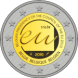 Commemorative Euro coin visual: Belgium 2010, Belgian Presidency of the Council of the European Union