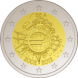 Commemorative Euro coin visual: Belgium 2012, 10th Anniversary of Euro coins and banknotes
