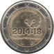 Commemorative Euro coin visual: Belgium 2014, 100 years since the beginning of World War I